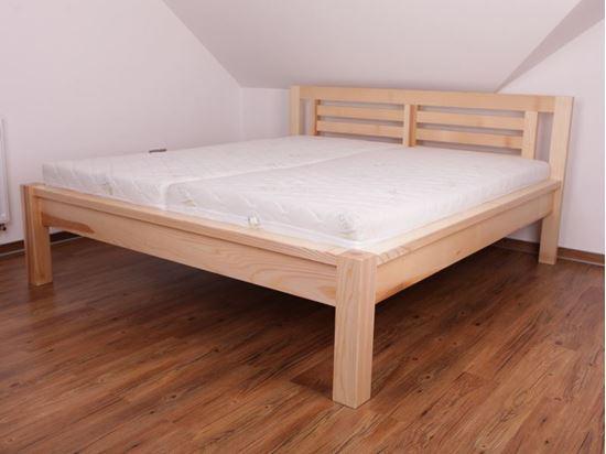 ADÉLA Dřevěná postel z masivu, bez úložného prostoru