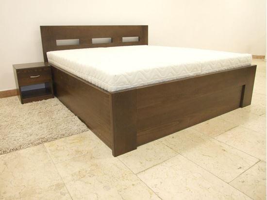 ALENA Dřevěná postel z masivu, s úložným prostorem