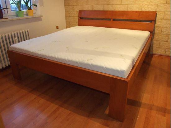ALICE Dřevěná postel z masivu, bez úložného prostoru