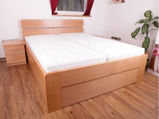 ALICE Dřevěná postel z masivu, s úložným prostorem