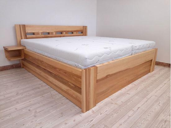 EDITA Dřevěná postel z masivu, s úložným prostorem