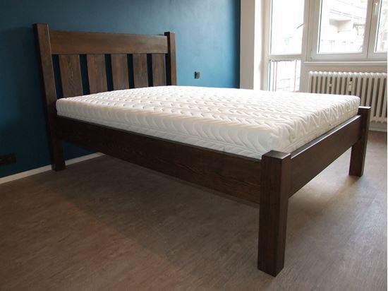 ESTER Dřevěná postel z masivu, s úložným prostorem