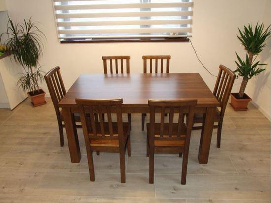 Jídelní stůl z masivního dřeva, 90 x 140 cm