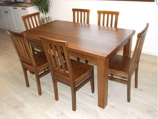 Jídelní stůl z masivního dřeva, 90 x 160 cm