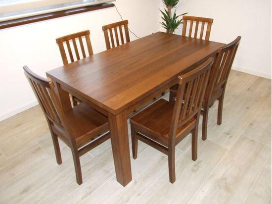 Jídelní stůl z masivního dřeva, 90 x 180 cm