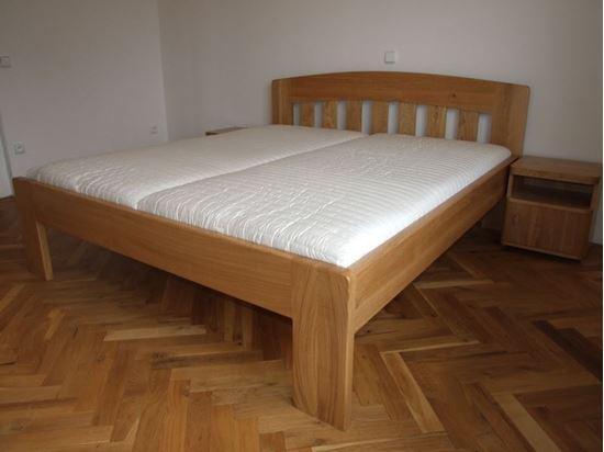 MARIKA Dřevěná postel z masivu, bez úložného prostoru