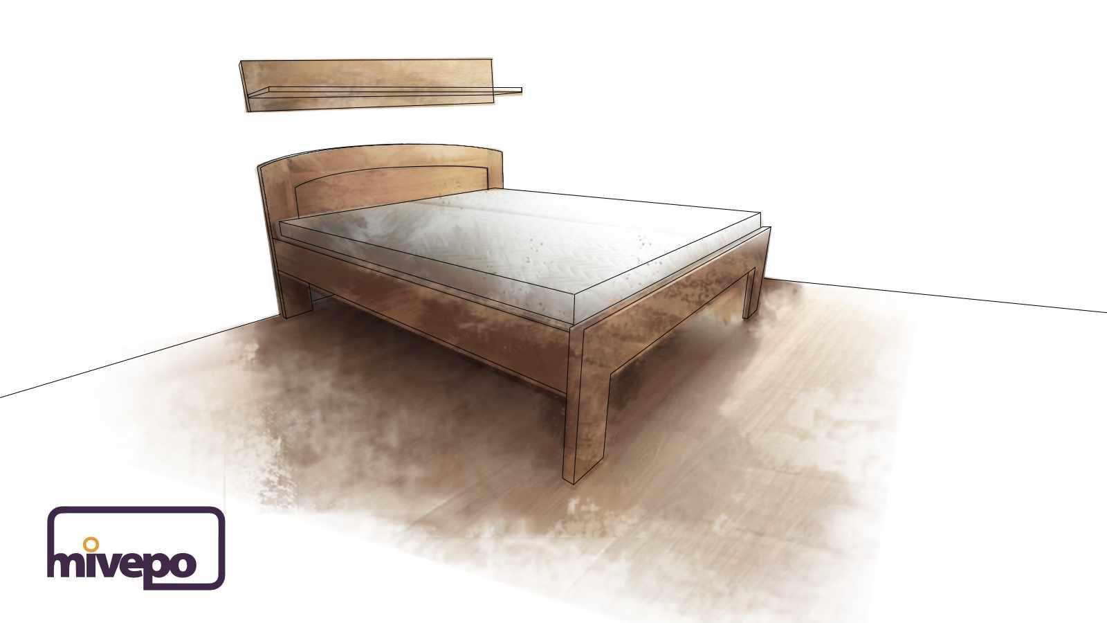 Police do ložnice z masivního dřeva
