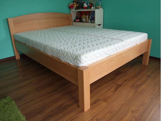 SABINA Dřevěná postel z masivu, bez úložného prostoru